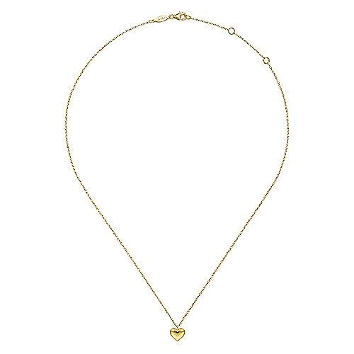 Gabriel & Co 14kt Yellow Gold Heart Necklace