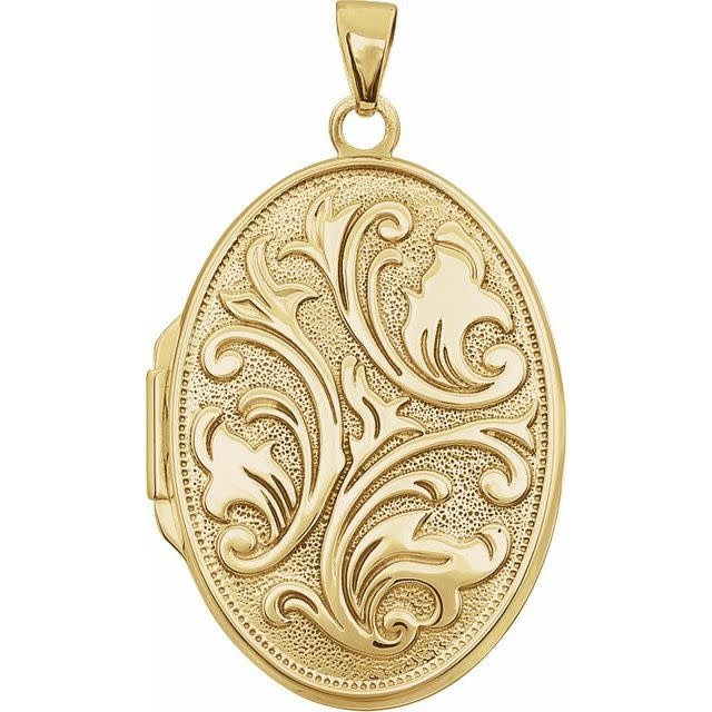 Stuller 14kt Yellow Gold Embossed Locket