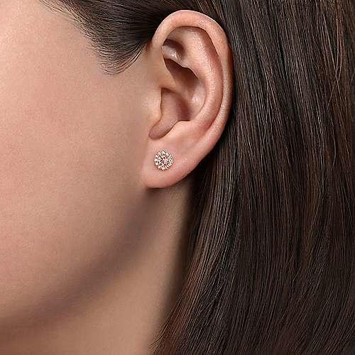 Gabriel & Co EG11819 14kt Rose Gold Morganite & Diamond Earrings