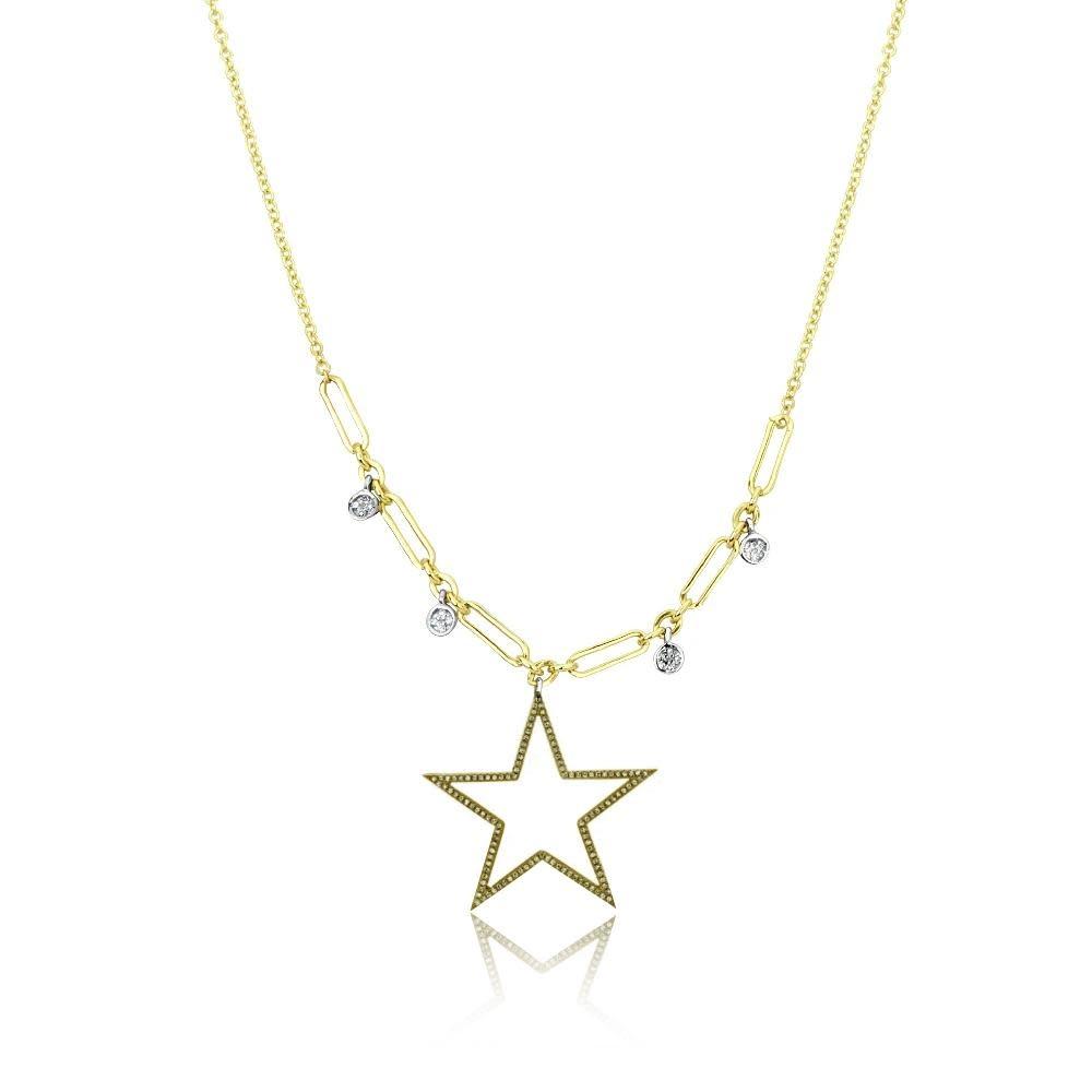 Champagne Diamond Star Necklace