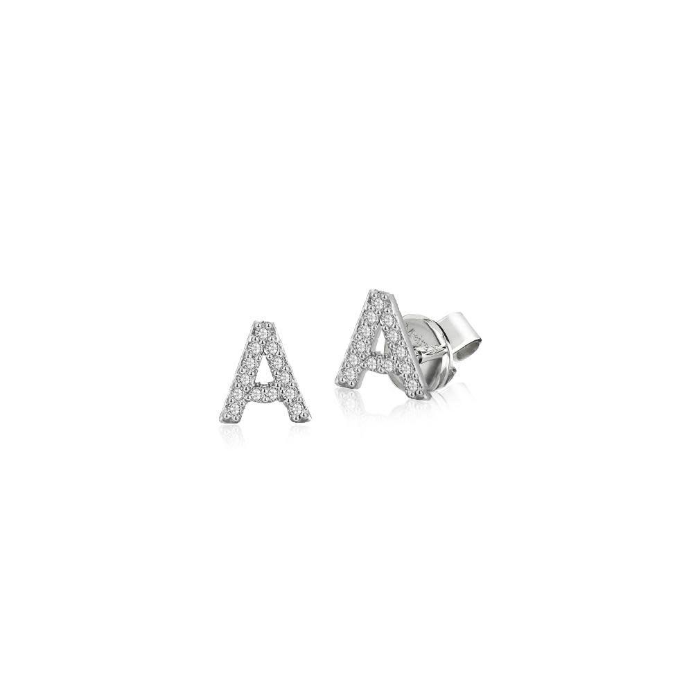 Meira T Diamond Initial Earrings
