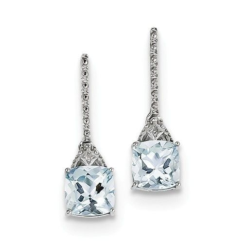 Q Gold QE9957AQ aquamarine earrings