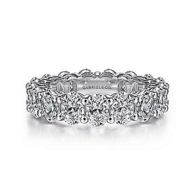 5 carat + oval eternity band