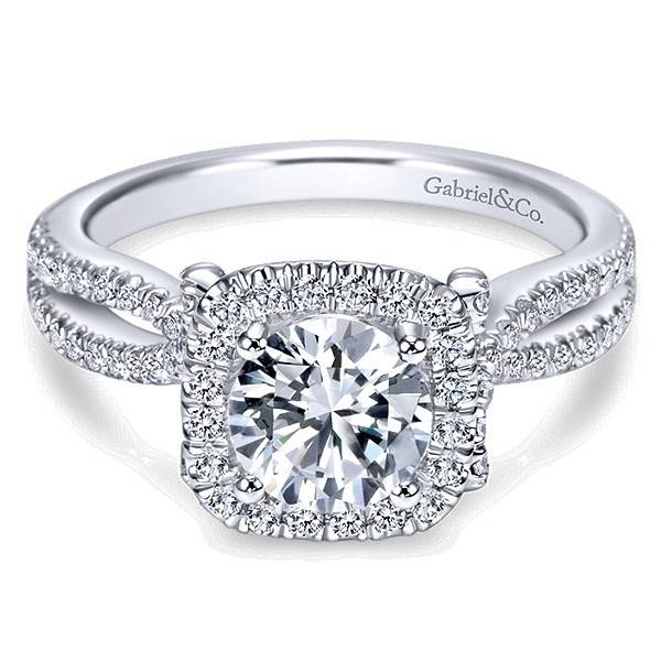 ER7806 Contemporary Halo Ring