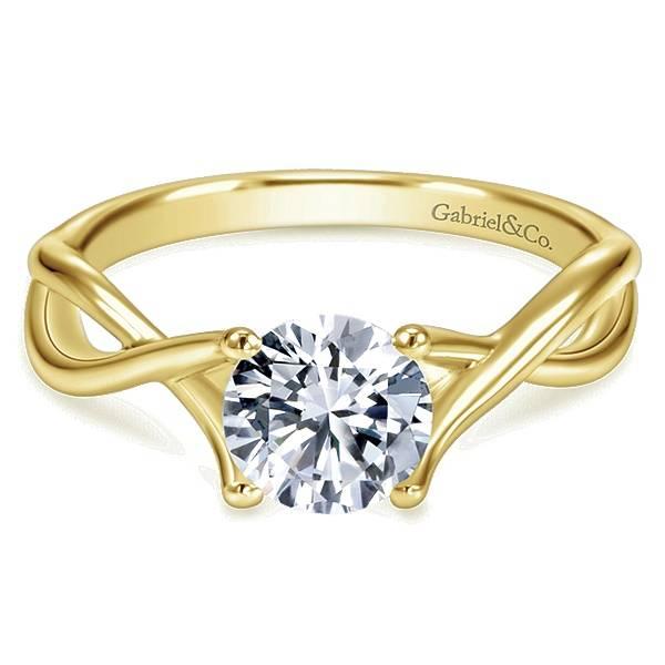 ER7517  Criss Cross Engagement Ring