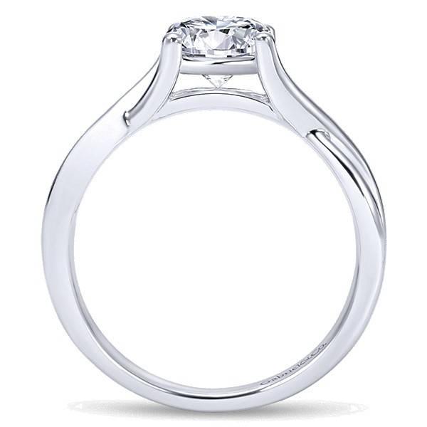 Gabriel & Co ER7517  Criss Cross Engagement Ring