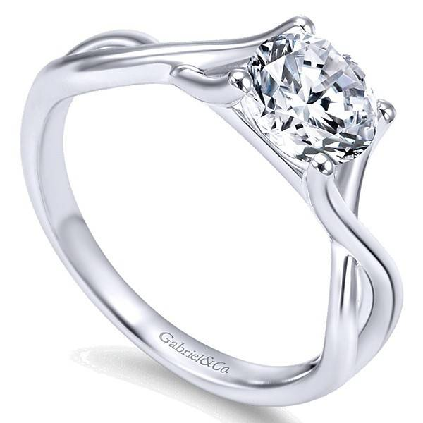 Gabriel & Co ER7517  Criss Cross Engagement Ring