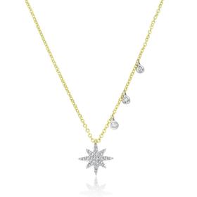Dainty Diamond Starburst Necklace