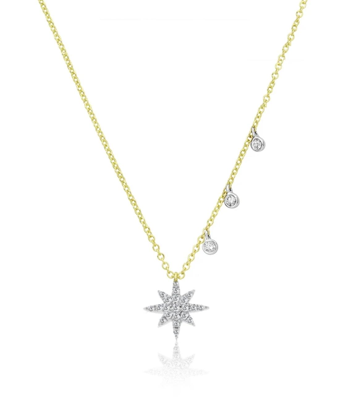 Meira T Dainty Diamond Starburst Necklace