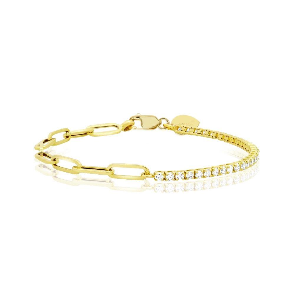 Half & Half Diamond Bracelet