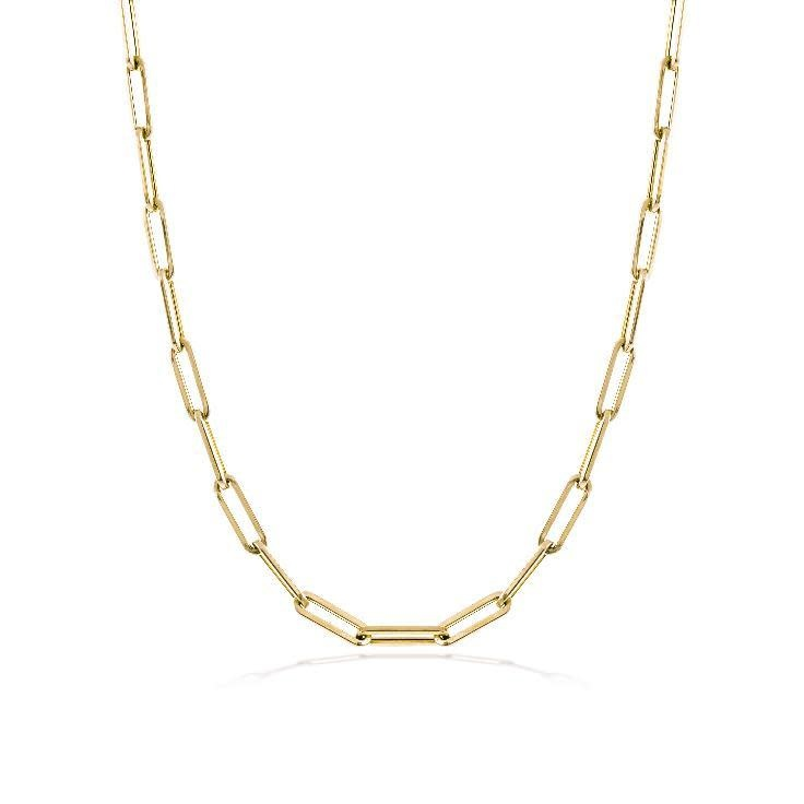 14kt Yellow Gold Paperclip Layering Necklace