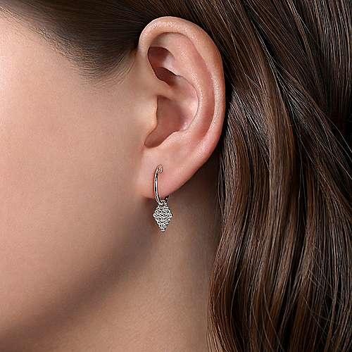 Gabriel & Co Kite Shaped Diamond Drop Earrings