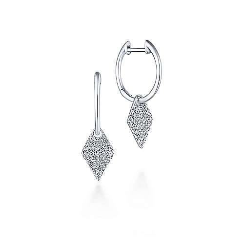Kite Shaped Diamond Drop Earrings