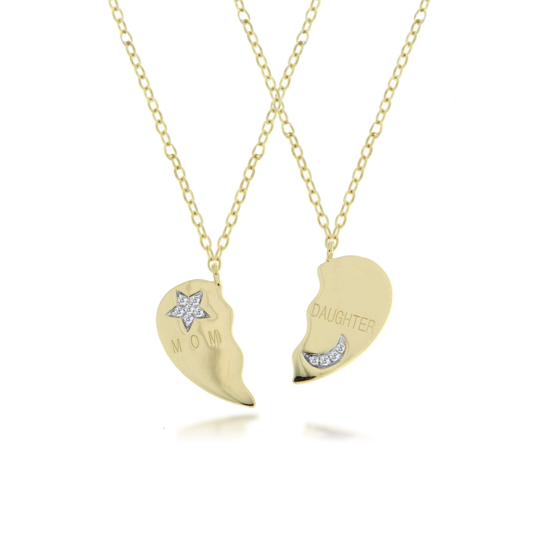 Mother Daughter Pair Necklace