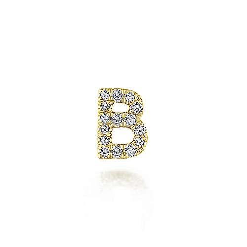 Gabriel & Co PT6513 Diamond Initial Locket Charm