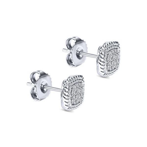 Gabriel & Co Cluster stud diamond earrings