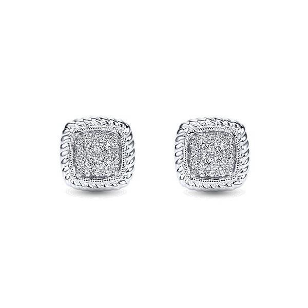 Cluster stud diamond earrings