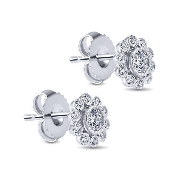 Gabriel & Co EG12865 diamond cluster earrings