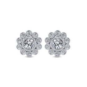 EG12865 diamond cluster earrings