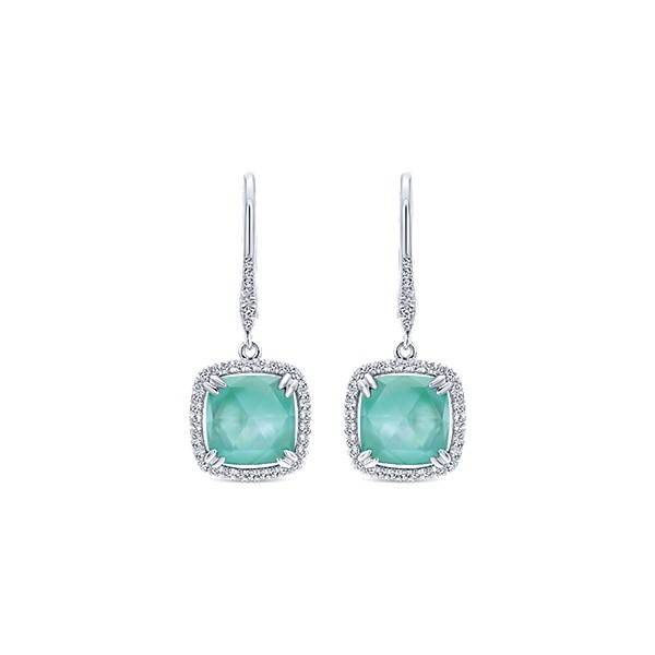 Gabriel & Co EG12975W45MG Green Onyx Drop Earrings