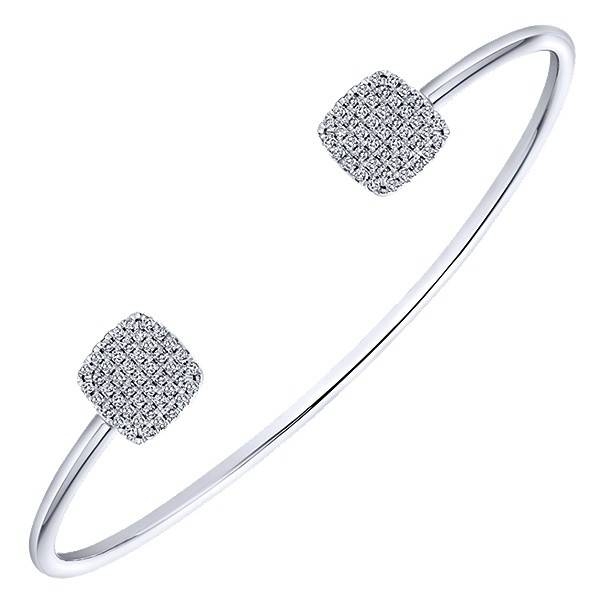Gabriel & Co BG3851W45JJ Pave Diamond Bangle