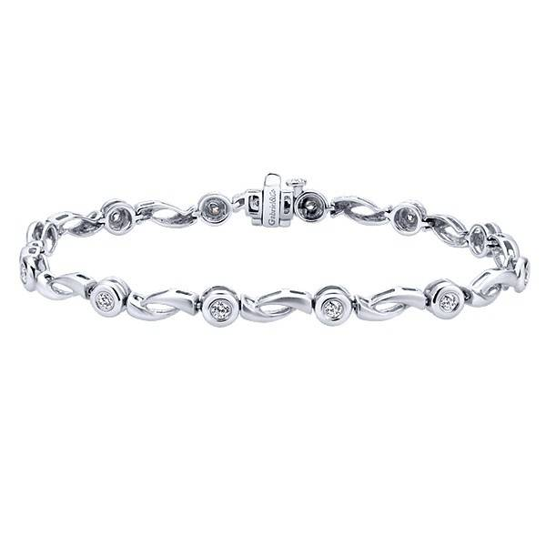 Gabriel & Co TB891W45JJ 14kt white gold tennis bracelet