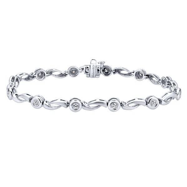 TB891W45JJ 14kt white gold tennis bracelet