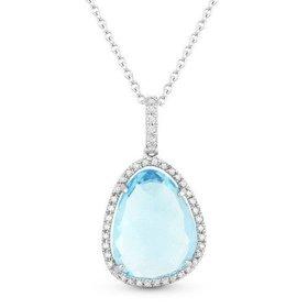 N0129 Blue Topaz Necklace