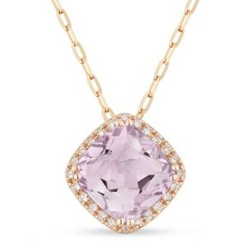 DN3420 Pink Amethyst Necklace