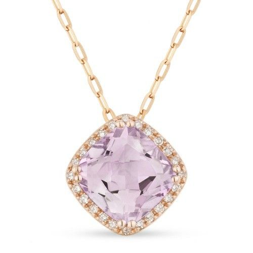 DN3420 Pink Amethyst Necklace