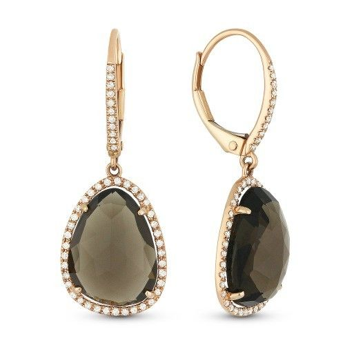 Madison L DE10754 Smoky Topaz Drop Earrings