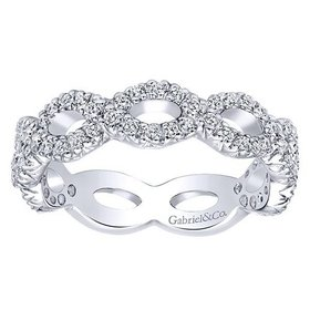 LR4589 diamond infinity band 0.42ct