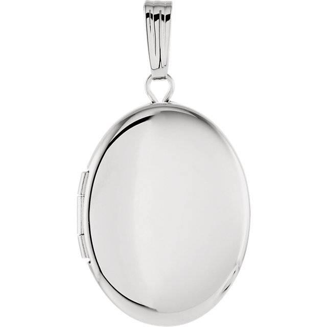 Stuller 84923 sterling silver oval locket