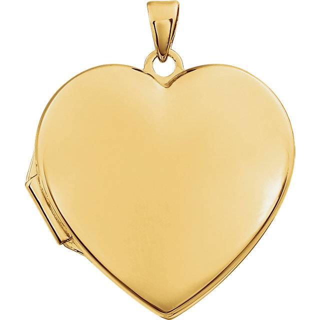 Stuller 86053 14kt yellow gold heart locket