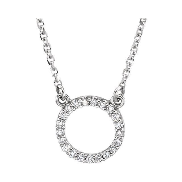 Stuller 66417 Diamond Circle Pendant Necklace