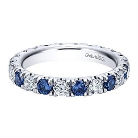 AN11360 alternating diamond sapphire band