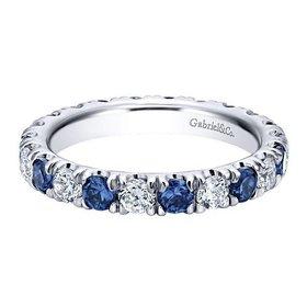 AN11360 alternating diamond sapphire band