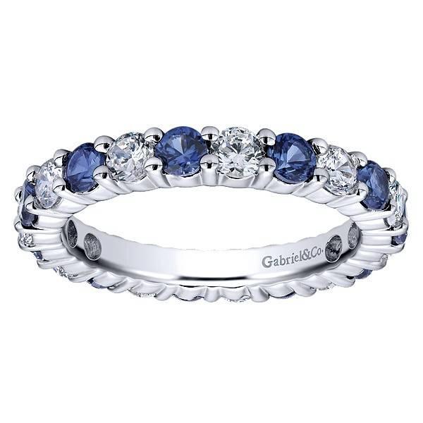AN11340 alternating sapphire and diamond band