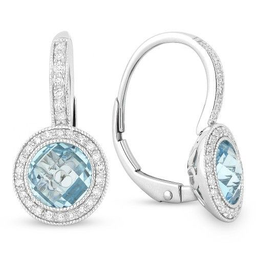 DE10510 blue topaz drop earrings