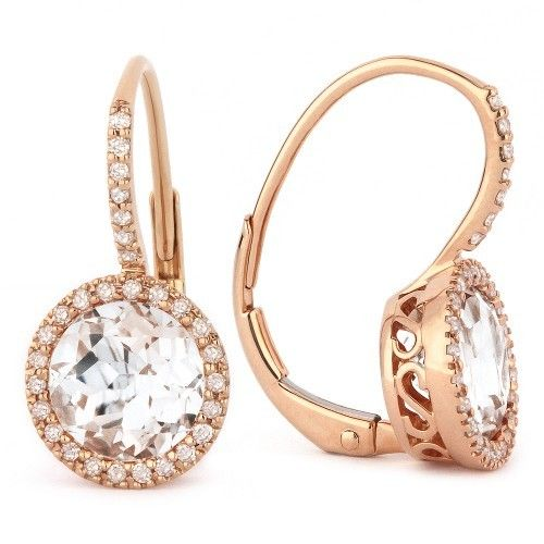 Madison L E1059WTP rose gold white topaz earrings