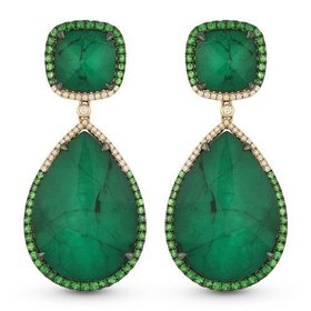 DE11010 emerald drop earrings