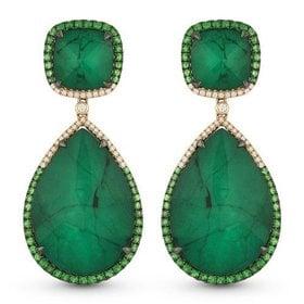 DE11010 emerald drop earrings