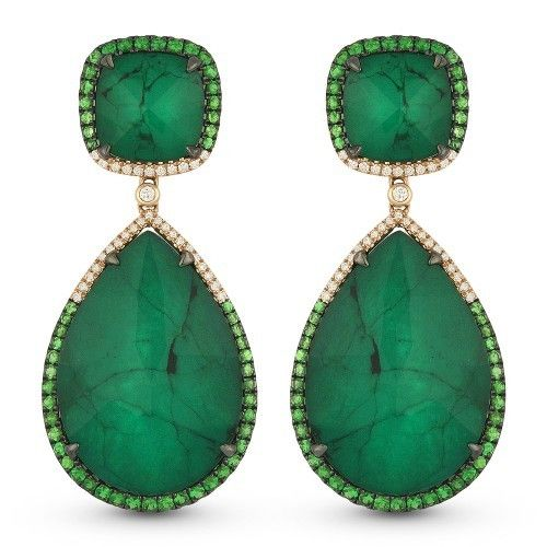 Madison L DE11010 emerald drop earrings