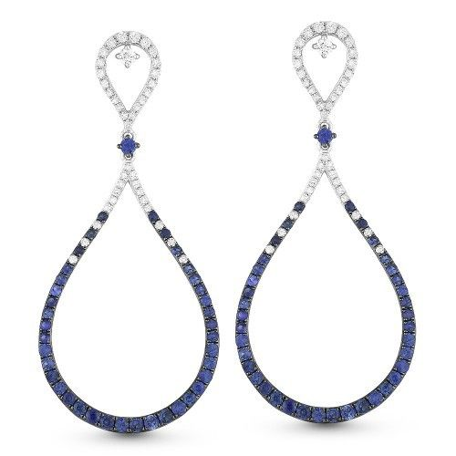 DE10920 sapphire and diamond drop earrings