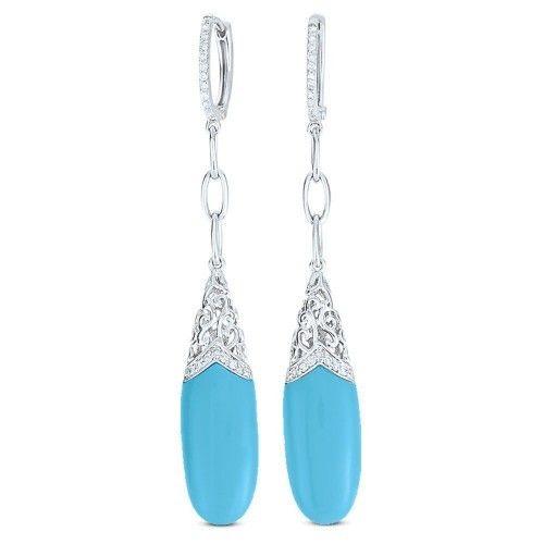 DE8667 turquoise drop earrings