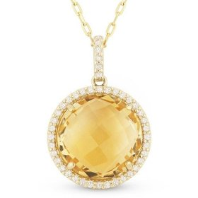 DN3881 citrine necklace