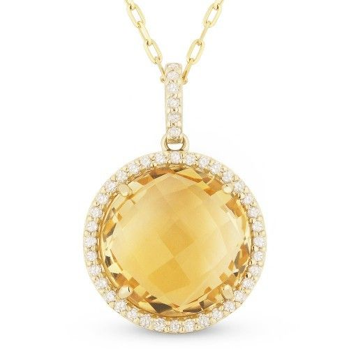 Madison L DN3881 citrine necklace