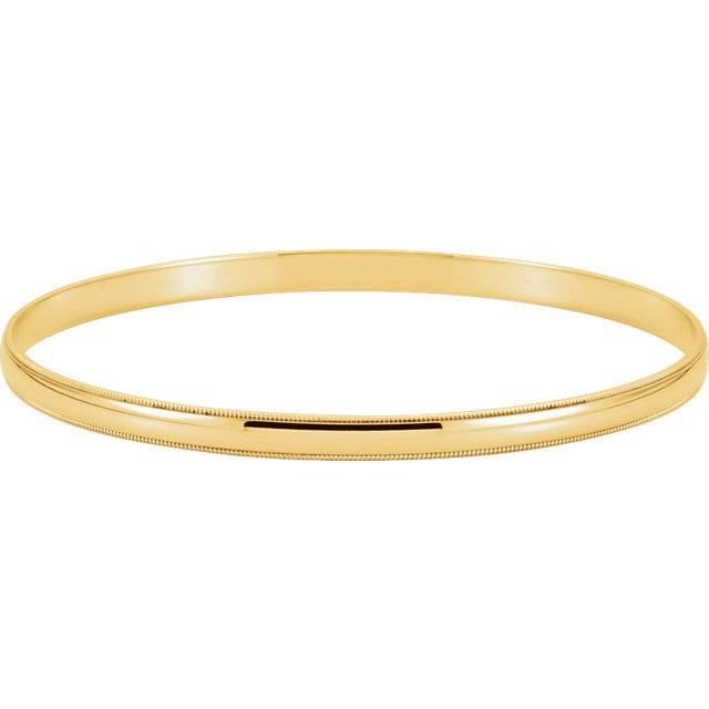 Stuller BRC85 Milgrain Bangle Bracelet