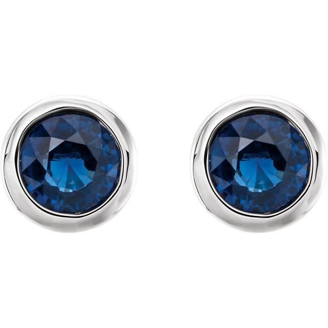 Stuller 61086 Sapphire Stud Earrings