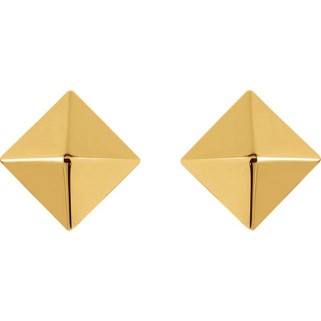 85888 14k pyramid earrings